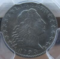 1795 FLOWING HAIR HALF DIME 1/2 10C PCGS EXTRA FINE  DETAILS- REPAIRED