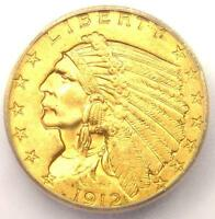 1912 INDIAN GOLD QUARTER EAGLE $2.50   ICG MS64    IN MS64   $2 690 VALUE