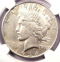 1934 S PEACE SILVER DOLLAR $1   NGC XF45 PQ  EF45     DATE   LOOKS AU