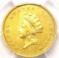 1854 TYPE 2 INDIAN GOLD DOLLAR  G$1 COIN    PCGS XF DETAILS  EF     TYPE