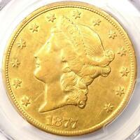 1877 CC LIBERTY GOLD DOUBLE EAGLE $20   PCGS AU DETAILS    CARSON CITY COIN