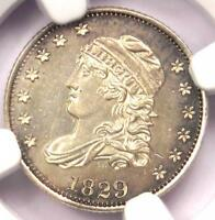 1829 CAPPED BUST HALF DIME H10C COIN - NGC UNCIRCULATED DETAILS UNC MS