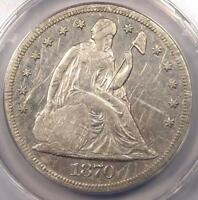 1870 CC SEATED LIBERTY DOLLAR $1   ANACS VF35 DETAILS    CARSON CITY COIN