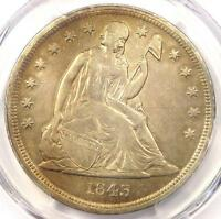 1843 SEATED LIBERTY SILVER DOLLAR $1   PCGS AU DETAILS    EARLY DATE COIN