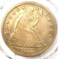 1872 CC SEATED LIBERTY DOLLAR $1   PCGS AU DETAILS    CARSON CITY COIN