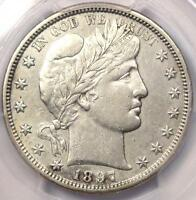 1897 S BARBER HALF DOLLAR 50C   PCGS XF DETAILS  EF .  DATE   CERTIFIED COIN