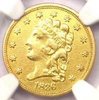 1836 CLASSIC GOLD QUARTER EAGLE $2.50   NGC XF DETAILS  EF     COIN