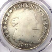 1803 DRAPED BUST SILVER DOLLAR $1 - CERTIFIED PCGS GOOD DETAILS -  COIN