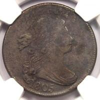 1805 DRAPED BUST LARGE CENT 1C COIN - NGC AU DETAILS -   DATE IN AU