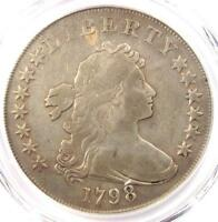1798 DRAPED BUST SILVER DOLLAR $1 BB-122 B-14 - PCGS VF DETAILS -  COIN