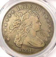 1800 DRAPED BUST SILVER DOLLAR $1 - CERTIFIED PCGS VF DETAILS -  COIN