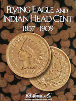 INDIAN HEAD/FLYING EAGLE COLLECTION IN NEW HARRIS ALBUM W/ 41 COINS