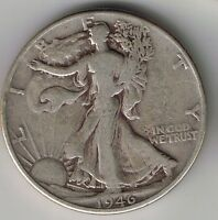 1946 WALKING LIBERTY HALF DOLLAR 50 CENTS SILVER COIN 1/2 FIFTY CENT