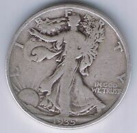 1935 WALKING LIBERTY HALF DOLLAR 50 CENTS SILVER COIN 1/2 $1 NICE FIFTY CENT
