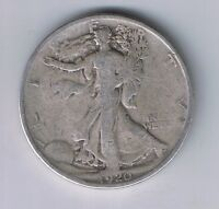 1920 P WALKING LIBERTY HALF DOLLAR SILVER COIN 50 CENTS WALKER 1/2 $1 50C