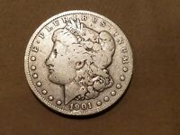 1901 O MORGAN SILVER DOLLAR LIBERTY HEAD $1 COIN ONE DOLLAR 1