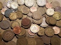1 POUND FOREIGN OF COINS FROM GERMANY ONE LB GERMAN WORLD LOT MARKS PFENNIG