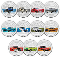 2017 FIFTY CENT FORD AUSTRALIA 11 CARDED COIN SET:UNCIRCULAT