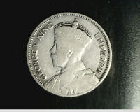 1933 NEW ZEALAND 1 SHILLING MEDIUM GRADE .0908 OZ SILVER   NZ 20