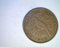 1946 NEW ZEALAND ONE PENNY HIGH GRADE BRONZE   NZ 55