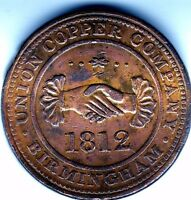 BIRMINGHAM  ONE  PENNY TOKEN 1812    LACQUERED