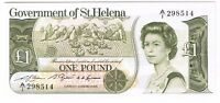 1981  1982  GOVERNMENT OF ST. HELENA 1 POUND NOTE P 9A CRISP UNCIRCULATED UNC CU