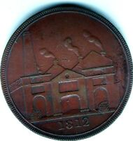 HULL  ONE  PENNY TOKEN 1812