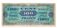 1944 FRANCE 100 FRANCS CENT FRENCH FRANC NOTE AMC WWII D DAY WAR RELIC FINE