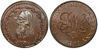 GR. BRITAIN WALES ANGLESEY. 1791 CU HALFPENNY TOKEN. PCGS MS65BN DRUID D&H 405