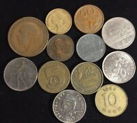 TWELVE ASSORTED FOREIGN COINS LOT SD28
