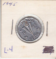 1945 CANADIAN 5 CENT L 4