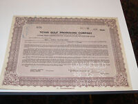 TEXAS GULF PRODUCING COMPANY STOCK CERTIFICATE 1932