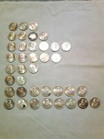 LOT OF 38 PRESIDENTIAL COMMEMORATIVE COINS/TOKENS VARYING CONDITIONS