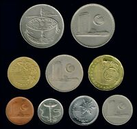 MALAYSIA: 9 DIFFERENT OLDER & RECENT CIRCULATION COINS AP6203