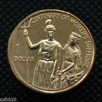 AUSTRALIA 1 DOLLAR 2003 100TH ANNIVERSARY OF WOMEN'S SUFFRAGE UNC COMMEMORATIVE