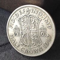 1947 HALF CROWN 2/6 GEORGE 6TH COIN. FREE UK P&P