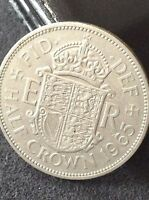 1965 ELIZABETH 2ND 2'6 HALF CROWN COIN EXCELLENT FREE UK P&P