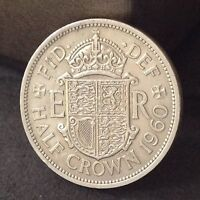 1960 GEORGE 6TH 2'6 HALF CROWN COIN EXCELLENT FREE UK P&P  REF2