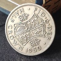 1950 GEORGE 6TH 2'6 HALF CROWN COIN EXCELLENT FREE UK P&P