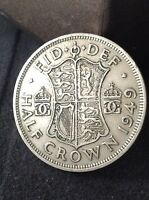 1949 2'6 COIN GEORGE 6TH HALF CROWN EXCELLENT CONDITION. FREE UK P&P.