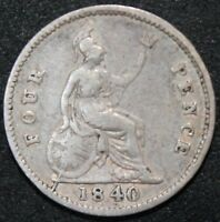 1840 | VICTORIA FOURPENCE/GROAT | SILVER | COINS | KM COINS