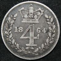 1864 | VICTORIA FOURPENCE/GROAT | SILVER | COINS | KM COINS