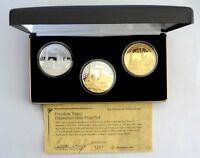 2001 > ONLY 1776 MINTED  .999 FINE.SILVER 3 COIN SET>FREEDOM TOWER.