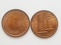 1 PC. OF SINGAPORE BRUNEI BUILDING FIRST ONE 1 CENT USED COIN 1967 1982  SC 91