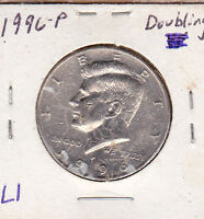 1996 P KENNEDY HALF WITH DOUBLING ON DOLLAR