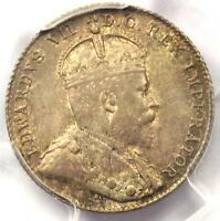 1906 CANADA EDWARD VII 10 CENT COIN 10C   PCGS MS63    IN MS63   $775 VALUE