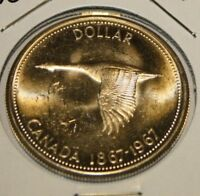 1967 CANADA SILVER DOLLAR:::GREAT DETAIL::::CENTENNIAL ISSUE FLYING GOOSE