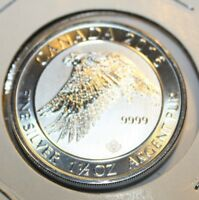 CANADA  2016 1.5  OZ.  9999 SILVER  FALCON  DESIGN :: 8.00 FACE VALUE