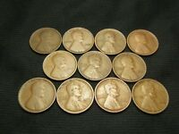 1909, 1910,1911,1912,1913,1914,1915,1916,1917,1918,1919 LINCOLN CENTS GOOD - VF