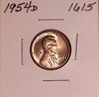 1954 D LINCOLN WHEAT CENT 1615, CHOICE-SHIPS FREE